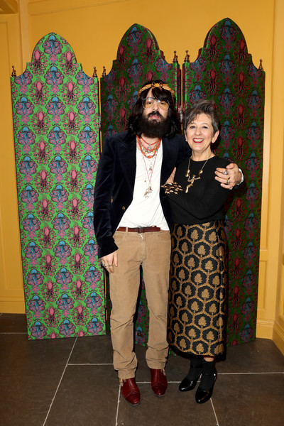 Alessandro Michele and Maria Luisa Frisa at the Gucci Garden opening in January 2018.
