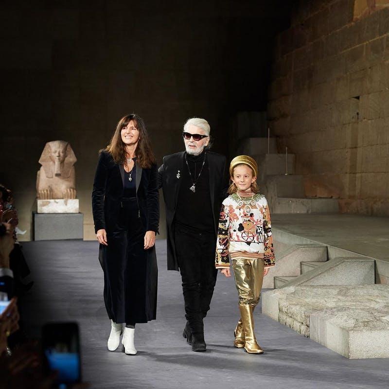 Virginie Viard, Karl Lagerfeld et Hudson Kroening.