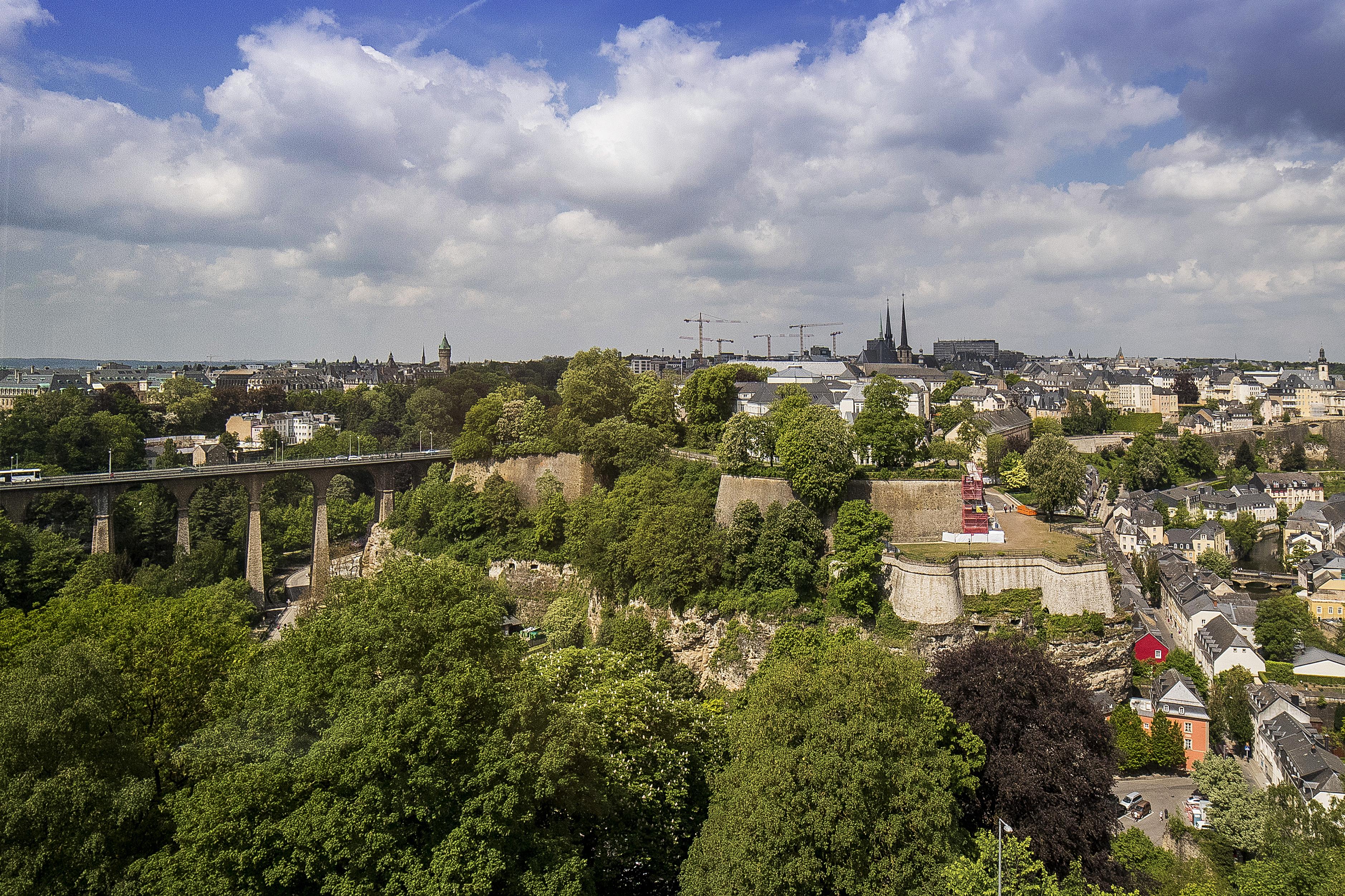 Vu sur Luxembourg-ville depuis le Restaurant Mu.