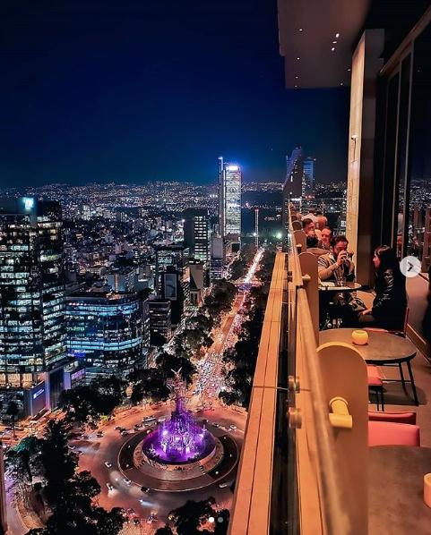 Sofitel Mexico City Reforma - Vue du bar au 38e étage.