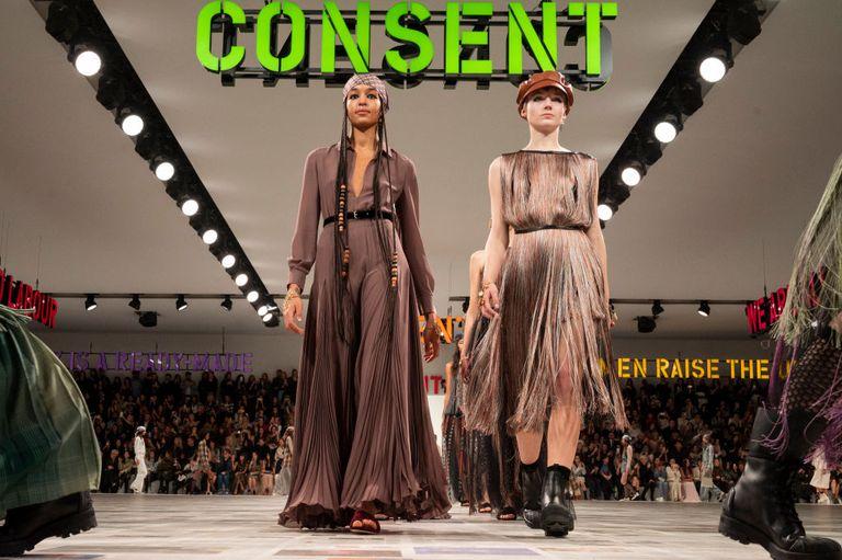 Dior's fall 2020 runway show held at Paris Fashion Week